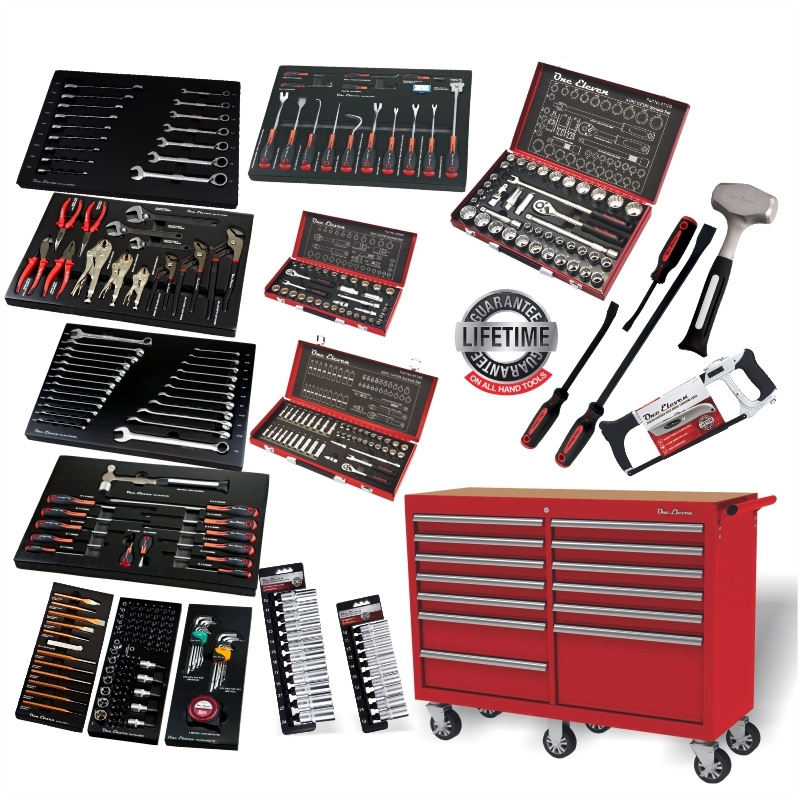 T52364 One Eleven 364pc Tool Kit in 13 Drawer 52″ Red Trolley